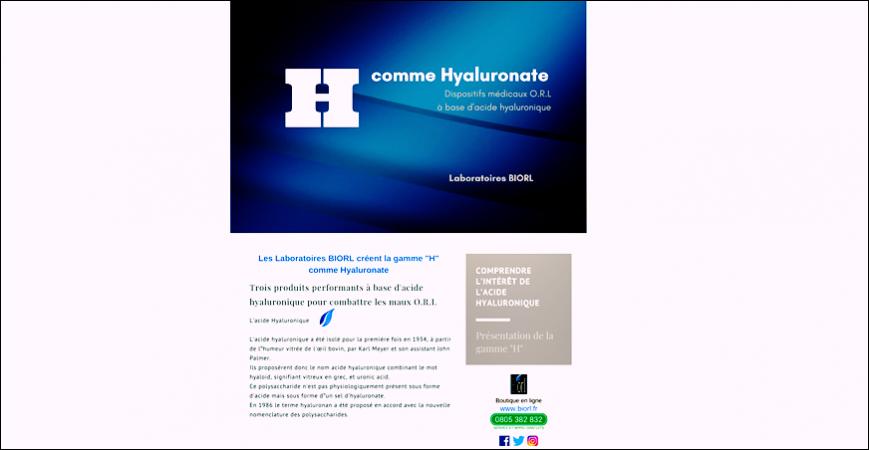 """Lettre d'information : """"H""""comme Hyaluronique"""