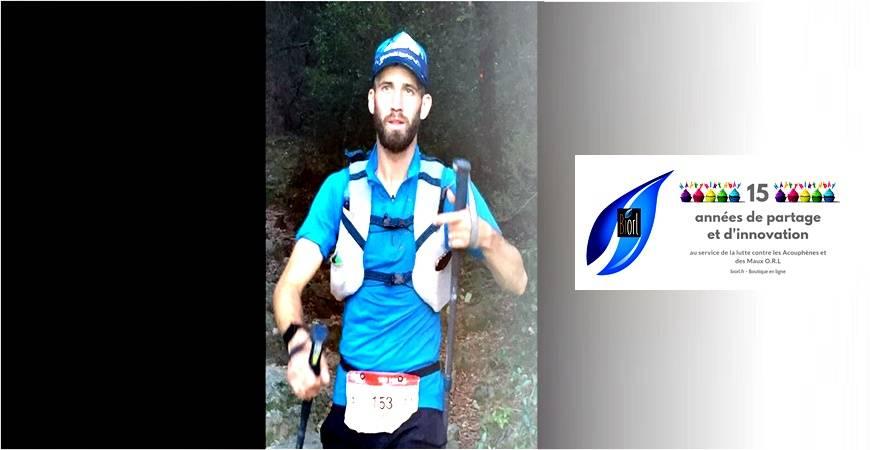 Kevin Caux, notre athlète BIORL... Finisher de l'ultra trail des 100 MILES SUD DE FRANCE.